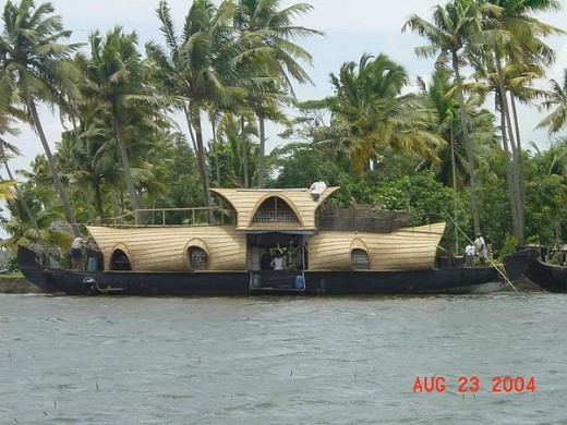House boat on the back waters