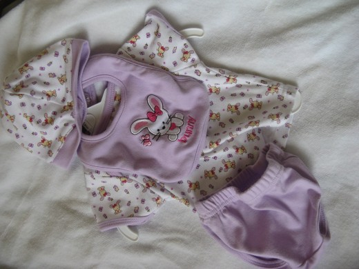 A delightful outfit for a new baby girl