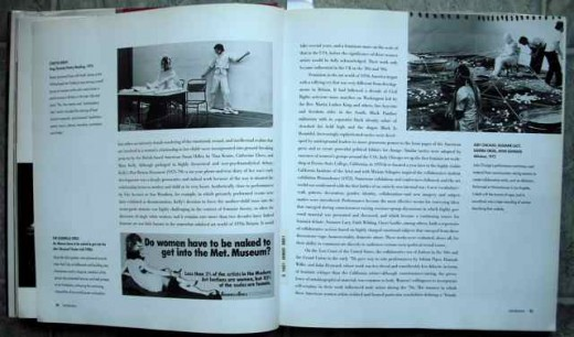 "Page view of Roselee Goldberg's book ""Performance: Live Art since 1960""."
