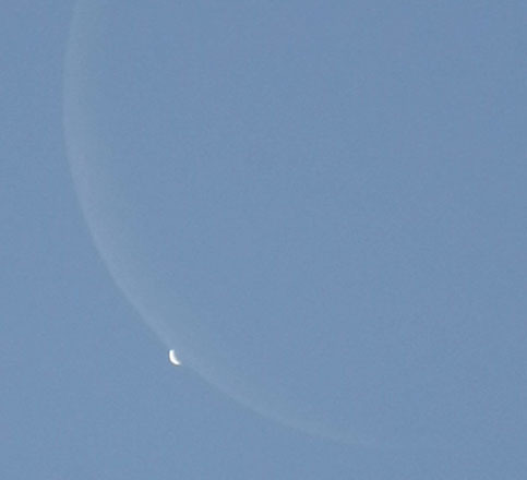 Sometimes, Venus can be mistaken for an alien craft, especially when it is brightest and approaching inferior conjunction as the evening star, Vesper/