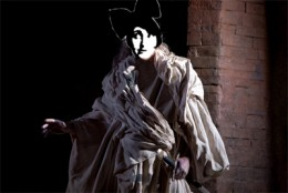 The ghost of Ladie Simone walks the battlements - Image by RedElf - photo from dwighttheconnoisseur.blogspot.com