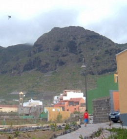 Looking back from La Caleta