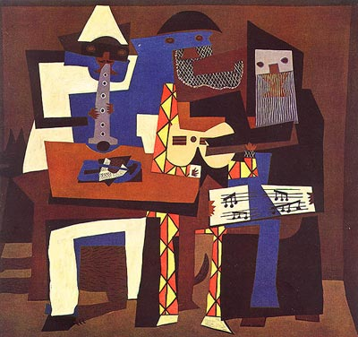 Three Musicians by Pablo Picasso (1921)