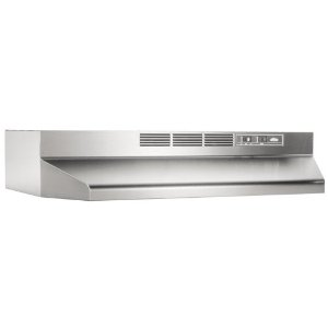 Broan 413004 Economy 30-Inch Two-Speed Non-Ducted Range Exhaust Hood, Stainless Steel