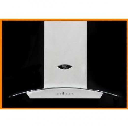 "LessCare LH5-36G Island Mount 36"" Stainless Steel Range Hood (Vent)"