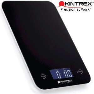 KINTREX Digital Tempered Glass Kitchen Scale - Ultra Thin