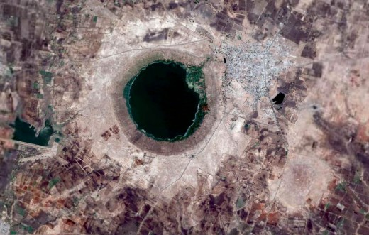 sat.view of Lonar meteorite impact crator ,india