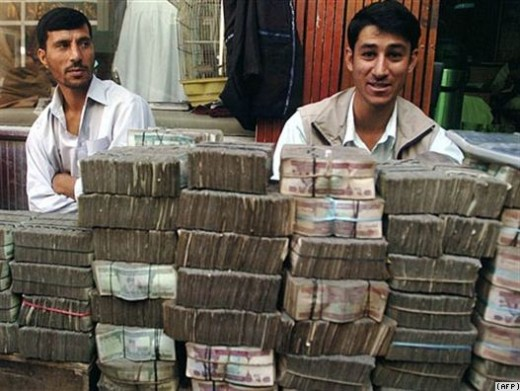 $3 billion in hard currency have been flown out of Kabul Airport over the past few years.