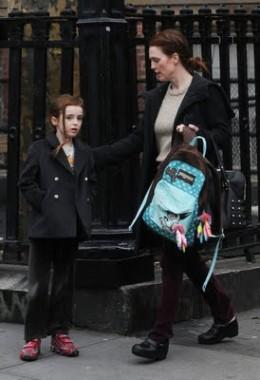 Julianne Moore wearing Dansko Professional Clogs