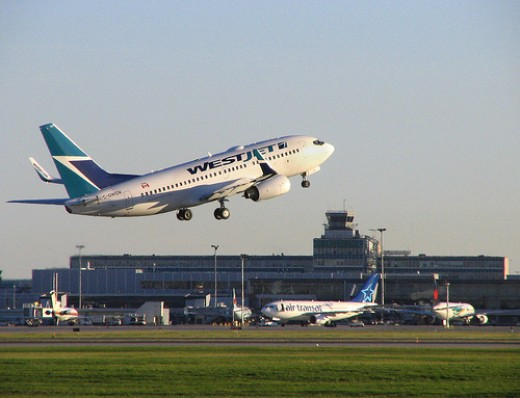 Westjet, the first leg of your cheap ticket to Costa Rica from Vancouver