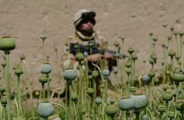 US military guarding Afghan farmer