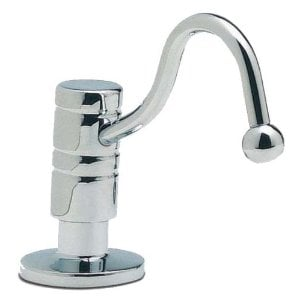 Blanco 911-350 Harvest Deluxe Brass Soap/Lotion Dispenser, Polished Chrome