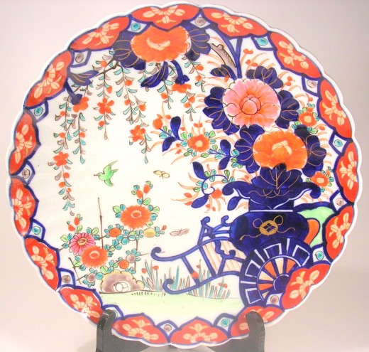 Antique Imari Plate. Photo by Sally's Trove.