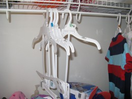 Ready and waiting for clean cloths