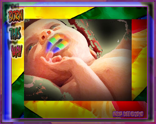 Rainbow baby indicates we are born this way!