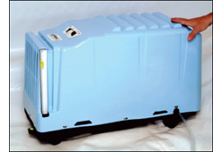 Pictured a Sani Dry basement dehumidifier
