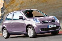 Nissan Micra India Purple - Side view