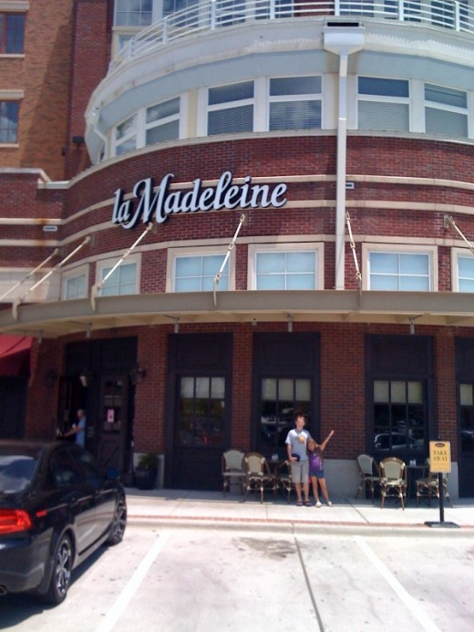 Just finished lunch at La Madeleine