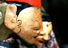 Wooden puppets in Triwindu Market