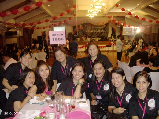 (From Left to right) Mini,Nanette,Malou,Maricor,Anna, Dang,MARIA,Gemma and Ruth