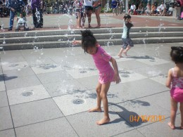 Ellis Square (interactive fountain)