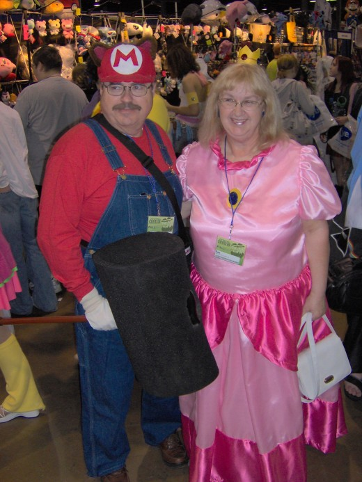 Super Mario Bros - Old Mario and Peach. How cool is that?