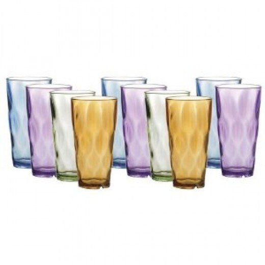 Creative Ware 24-Ounce Tumbler Glasses,Set of 10
