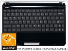 Keyboard & Trackpad when you buy Asus eee pc 1005pe