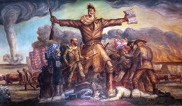 Tragic Prelude by John Steuart Curry, illustrating John Brown and the clash of forces in Bleeding Kansas