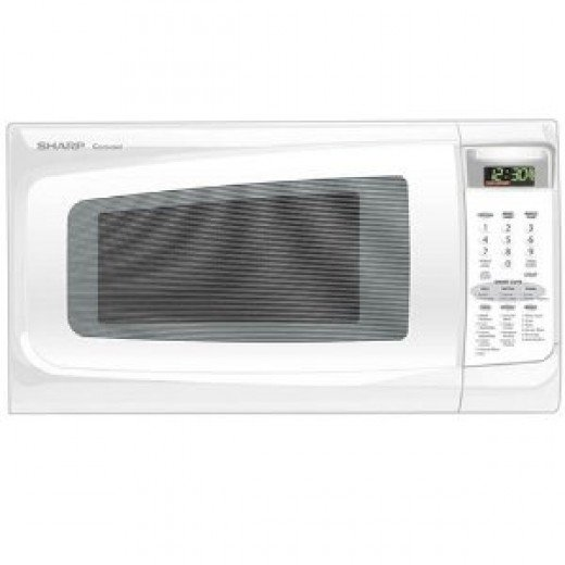 Sharp R-402JW 1-2/5-Cubic-Foot 1100-Watt Microwave, White