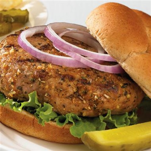 Tasty turkey burgers liven up your barbeque