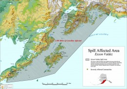 The Exxon Valdez oil spill compared to the two big ones, was a drop in the bucket, but it still polluted a large area that continues to impact fishing and wild life.