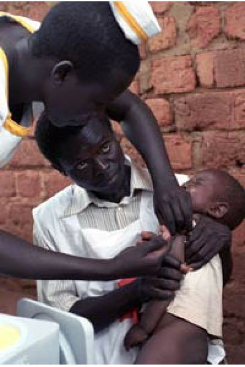 The Measles Initiative lowering mortality rates worldwide.