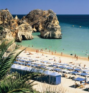 One of the beaches at Alvor
