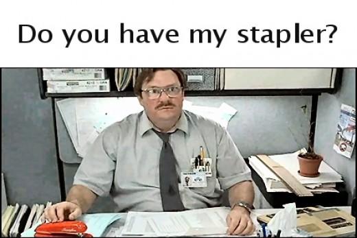 Red Swingline Stapler from Office Space
