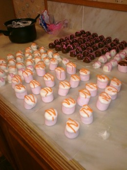 white chocolate covered Peanut butter balls