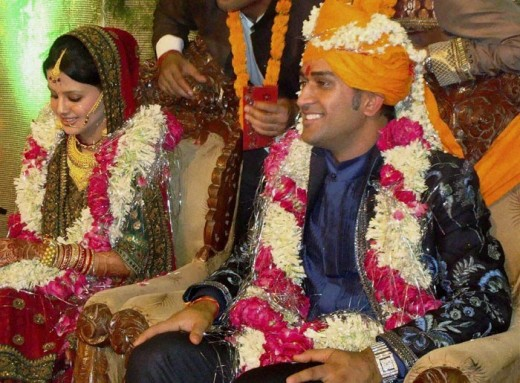 MS Dhoni marriage picture