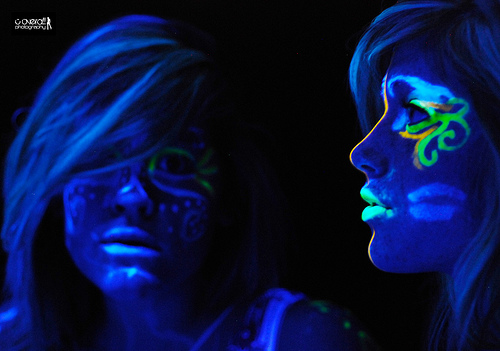Black Lights can give you a whole load of fun with some black light makeup!