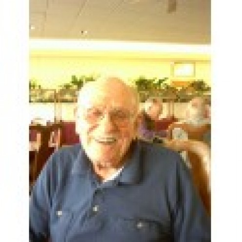 A Picture I took of my grandfather in the winter of 2008 in the dining hall at his assisted living center in Mt Angel, Oregon