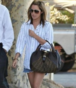 Ashley Tisdale wearing an Abercrombie & Fitch Big Horn Pass Shirt