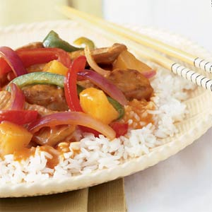 Sweet and Sour Pork Sausages