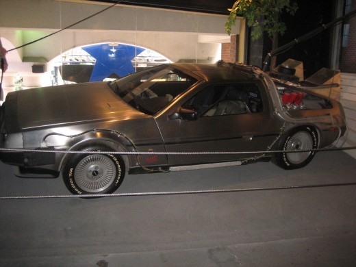 The DeLorean Time Machine from Back to the Future