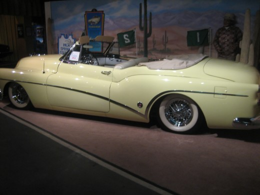 This was probably my favorite car at the museum.  It is Bob Hope's 1953 Buick Skylark.  It is an absolutely gorgeous car.