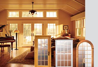 Andersen wood-clad replacement windows.