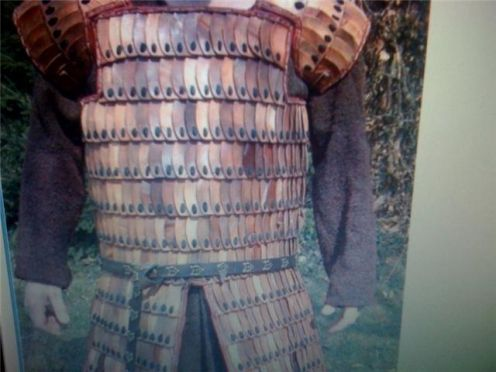 Lameller plate armour as worn by Rus Vikings.