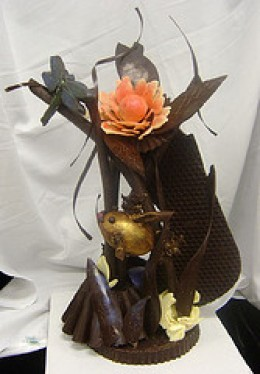 Chocolate sculpture. Image courtesy of Flickr.com:Carabou; through a Creative Commons License.