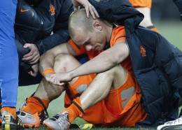 Wesley Sneijder at the end of the FIFA World Cup Finals match.