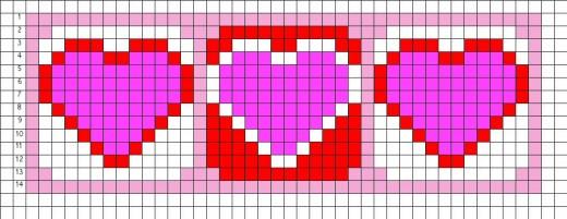 Free Bead Loom Patterns: Hearts