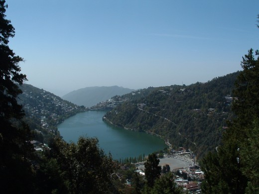 The Naini Lake - Green Emerald Eye