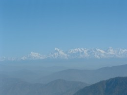 View of The Himalayan Peaks
